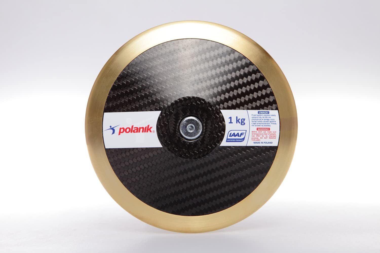 1,75 kg 1,60 kg 1,50 kg lanzamiento de disco 1,00 kg POLANIK Disco de competici/ón CARBON 2,00 kg