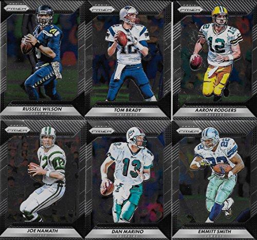 2016 Panini Prizm Football Series Basic 200 Card Set LOADED with Stars and Hall of Famers Brady, Rodgers, Marino, Manning, Namath, Emmitt, Favre (Stars Football Cards Hobby Box)
