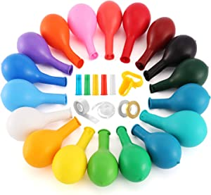 140 Pcs Party Balloons, Birthday Balloons, 12 inch Strong Latex Balloons+5 Air Blowing Nozzle+2 Ribbons+Balloons Strips+Tying Tool, Helium Quality, Rainbow Balloons Decoration Party Supplies
