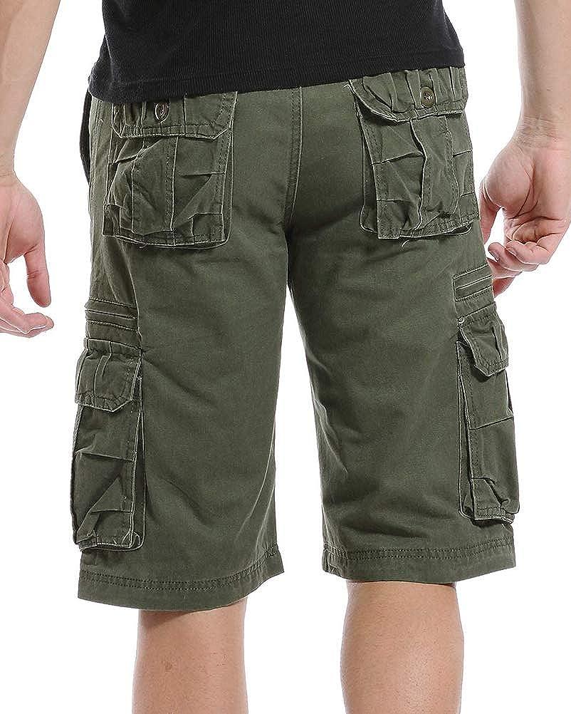 Onsoyours Pantaloni Corti Bermuda Cargo Pantaloncini Uomo Lavoro Pantaloni Tasconi con Elastico Estive Casual Pantaloncino Sportivi Jogging Spiaggia Shorts