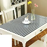 Pvc table cloth/ table cloth/ oil/water proof table cloth/transparent table mat/thickened tablecloth-N 60x100cm(24x39inch)