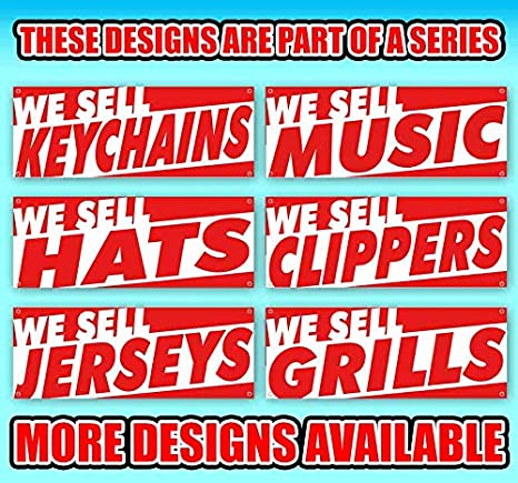 New Store Advertising Many Sizes Available Flag, WE Sell Monitors 13 oz Heavy Duty Vinyl Banner Sign with Metal Grommets