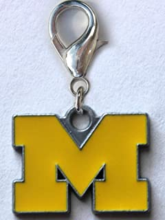 product image for Diva-Dog NCAA 'Michigan Wolverines' Licensed College Team Dog Collar Charm