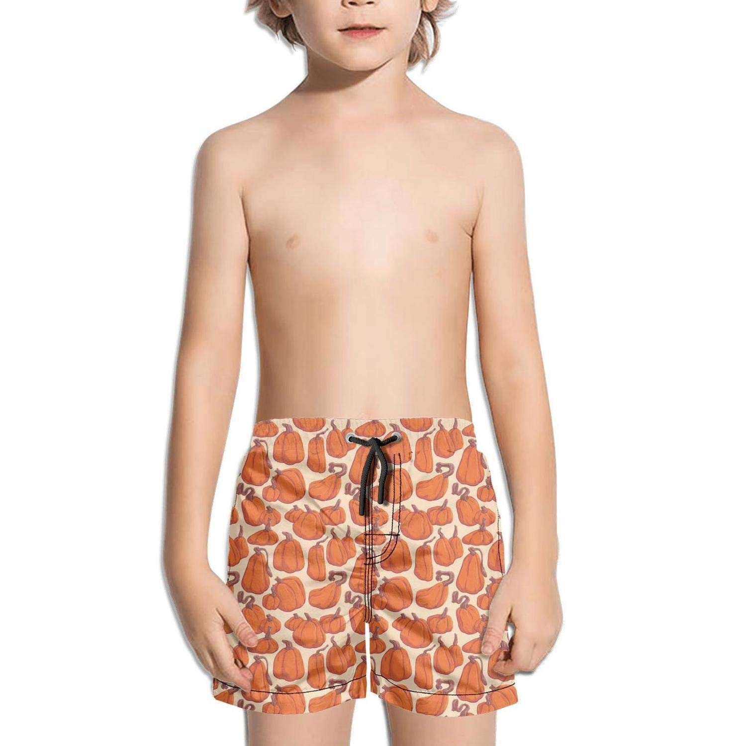 NAIT.2 Shorts Swimming Tucks for Kid Quick Dry Beach Adjustable Swimming Tucks Bathing Vacation How to Cut a Pineapple Orange Color