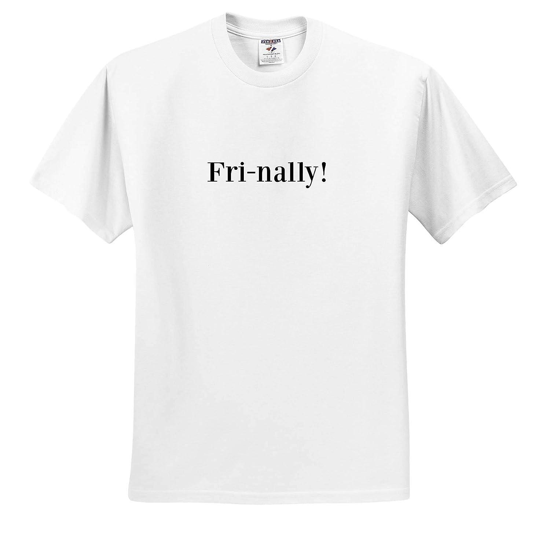 Adult T-Shirt XL 3dRose Gabriella-Quote Image of Fri-Nally Quote ts/_316955