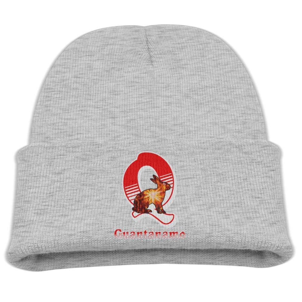 Q Guantanamo Rabbit Skull Hat Beanie Cap 0-3 Old Baby