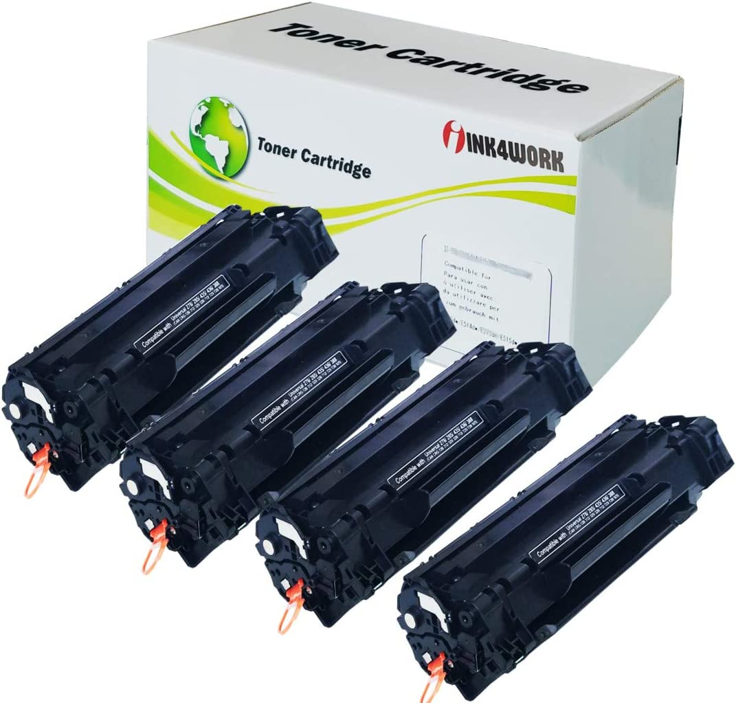 Black, 4 Pack INK4WORK Compatible Toner Cartridge Replacement for Canon 128 CRG-128 ImageCLASS D530 D550 MF4580DN MF4770n MF4880dw MF4890dw MF4450 MF4412 MF4420n FaxPhone L190 L100 Printer