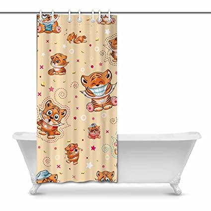 Amazon INTERESTPRINT Stock With Cartoon Tiger Cubs Bathroom