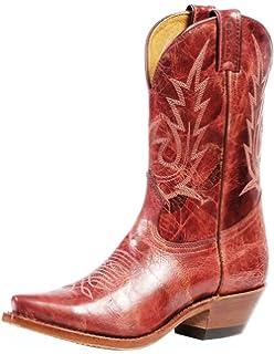 Boulet Womens Puma Rojo Cowgirl Boot Snip Toe - 4604