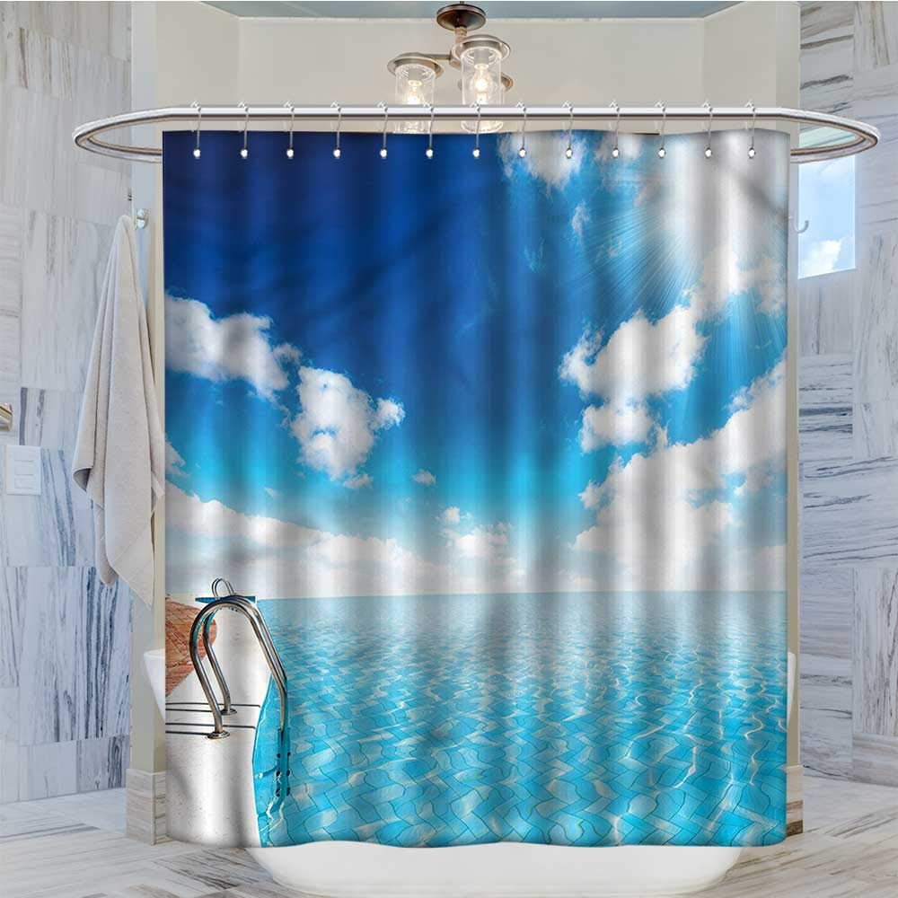 Amazon.com: Qenuanmpo Extra Long Shower Curtain Summer ...