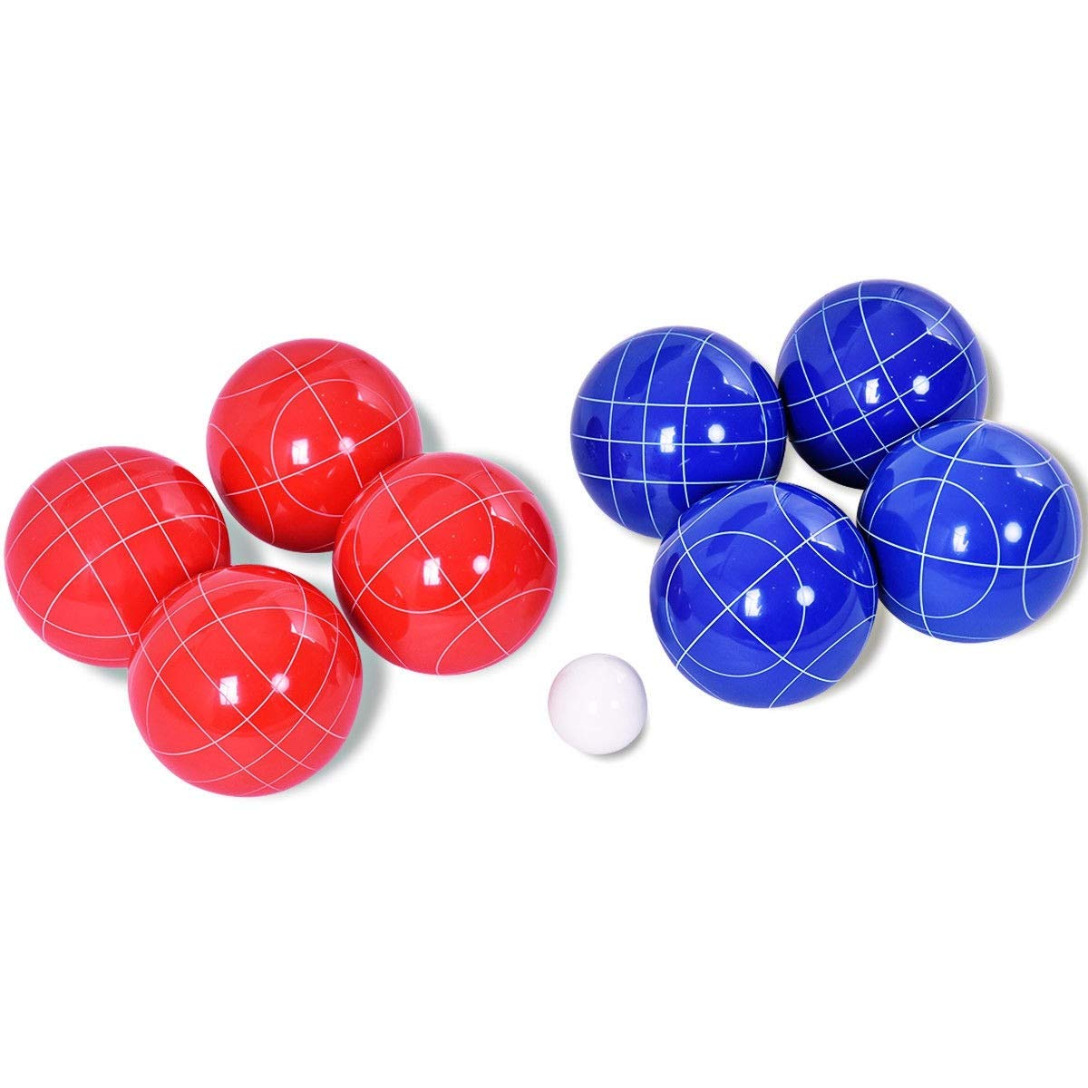 LordBee Resin New Nice Backyard Bocce Ball Set with 8 Balls Game Play Kids Home Indoor Outdoor Garden Eye-catching Color and Appearance by LordBee