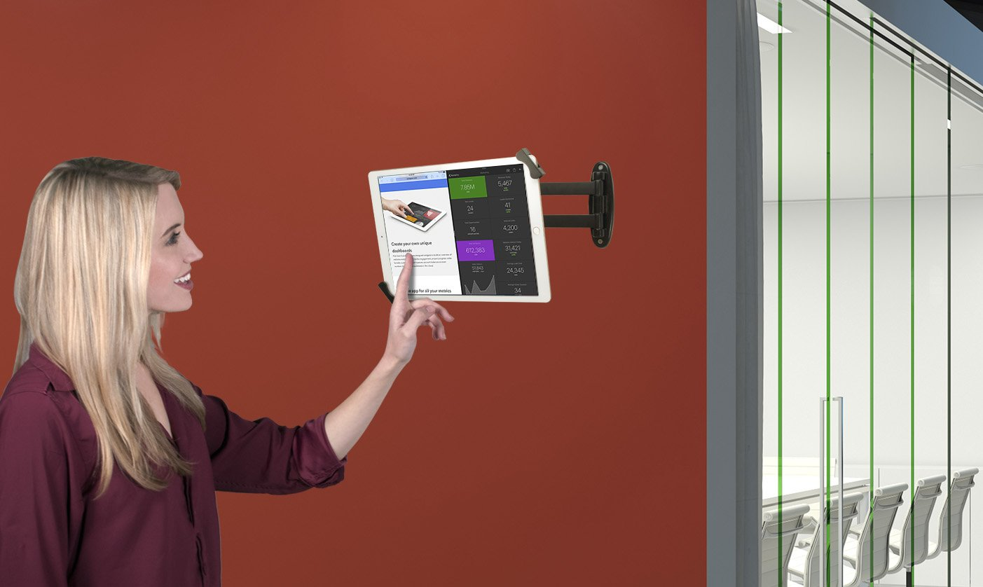 CTA Digital PAD-AWSEA Articulating Wall Mounting Security Enclosure for iPad Air//iPad Pro 9.7//iPad Silver Gen. 5-6