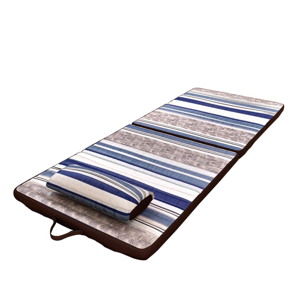 bluee 90180CM JRP Folding Bed,Simple Individual Nap Mat Yoga Mat Breathable