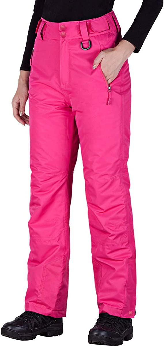 FREE SOLDIER Women's Outdoor Snow Ski Insulated Pants Windproof Waterproof Breathable Pants for Snowboarding : Clothing