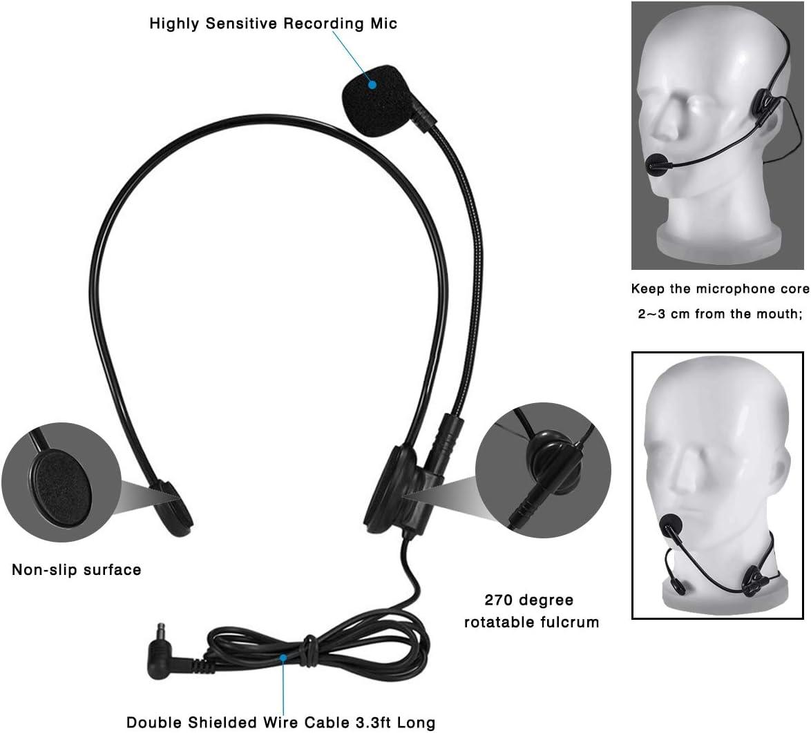 15W bater/ía recargable Voice Amplifier entrenadores deportivos, SHIDU Amplificador de voz port/átil con micr/ófono Bluetooth amplificador voz para profesores sistema de megafon/ía gu/ías tur/ísticos