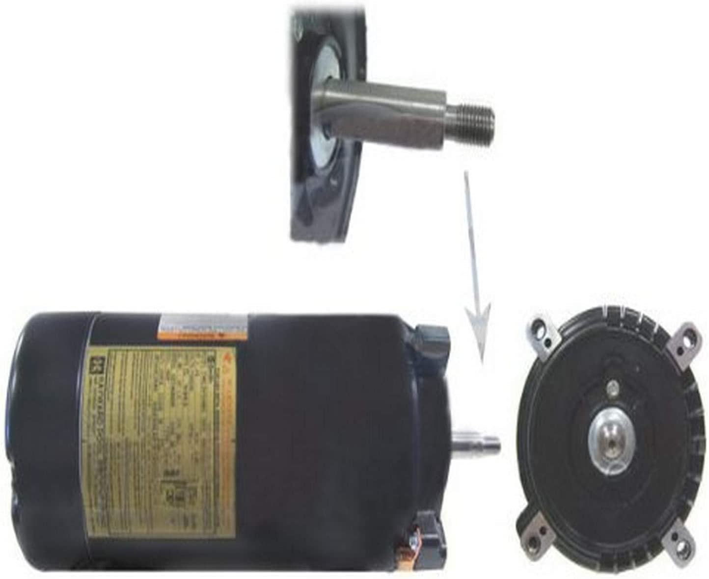 Hayward SPX1600Z1M Maxrate Motor Replacement for Hayward Superpump and Max-Flo Pumps, 1/2-HP