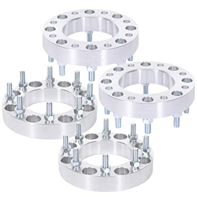 TUPARTS 4X 8 Lug Wheel Spacers 1.5 inch 8x180mm to 8x180mm 14x1.5 125mm Replacement for 2011-2016 Chevrolet Silverado 3500 HD 2011-2020 Chevrolet Silverado 2500 HD 3500 HD: Automotive