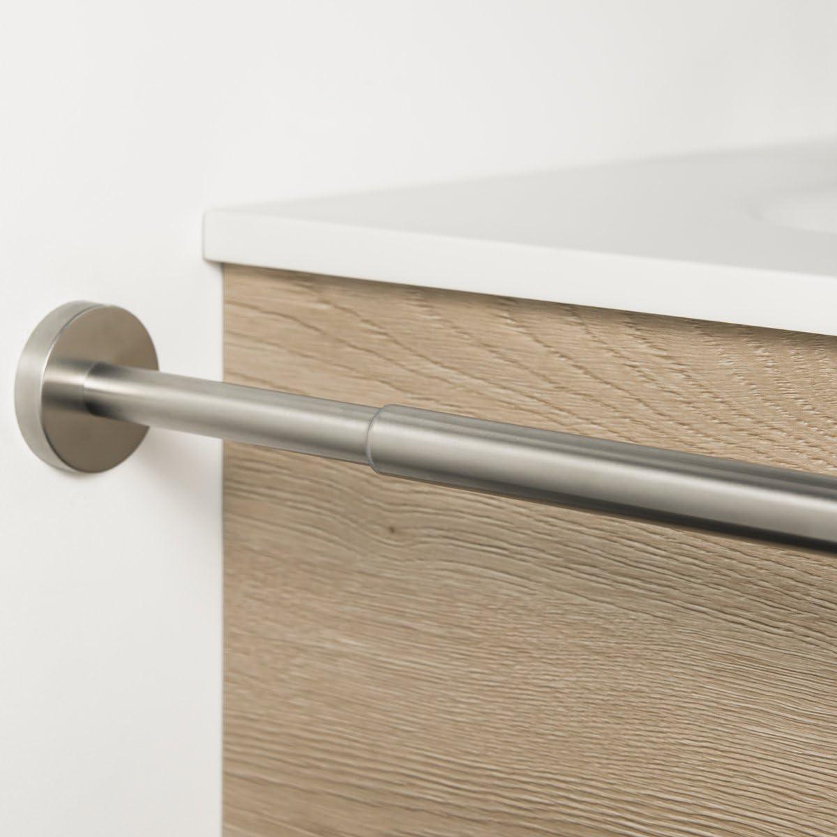 Stainless Steel Matt Bremer Man Bathroom Series Piazza Telescopic Towel Holder 2 arms