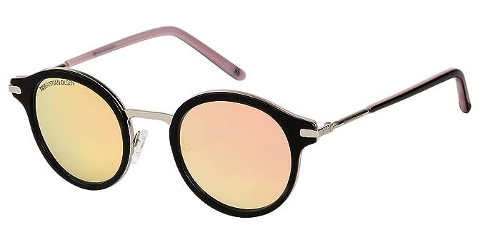 Gafas de Sol redondas estilo retro. Alta Calidad Óptica made in Denmark.: Amazon.es: Ropa y accesorios