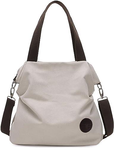 Amazon.com: Mfeo bolsas de hombro de lona para mujer, bolsa ...