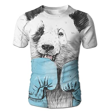 67f57ad1861 Image Unavailable. Image not available for. Color  Men s T-Shirts  Minimalist Panda Printed Casual Short Sleeve Fit Tops Soft Crew-Neck