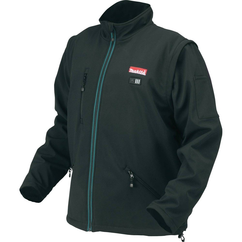 Makita DCJ200ZXL 14.4/18 V X-Large Heated Jacket - Blue Maktia
