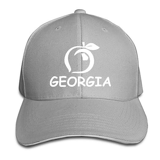 Georgia Peach Logo State Gift Pride White Golf Sandwich Cap Baseball  Trucker Snapback Hat 50c0a60ac1d