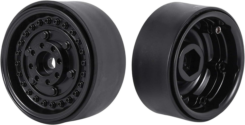 Negro Dcolor Buje de Llanta de Rueda Beadlock de Metal de 4 Piezas de 1,9 Pulgadas para 1//10 RC Crawler Car Axial Scx10 90046 Trx4 Tf2 D90