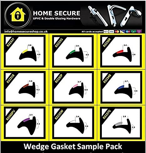 BLACK AND GREEN UPVC WEDGE WINDOW DOOR RUBBER GASKET SEAL R3233G various lengths
