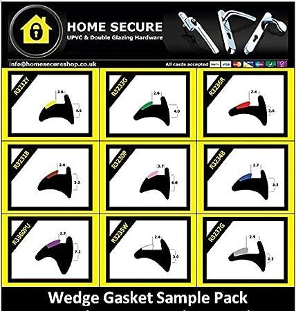Wedge Gasket   Rubber Door And Window Wedge Seal Black UPVC Gasket   Sample  Pack