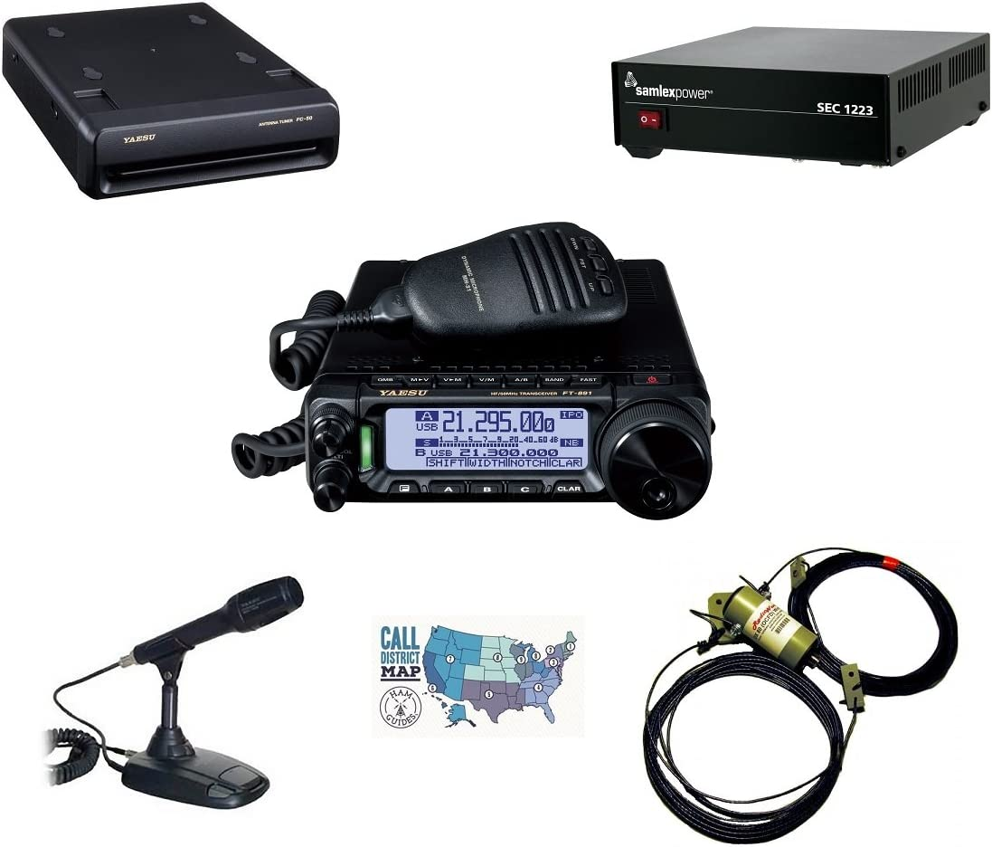 Yaesu FP-1030A 30A Power Supply W//Meters and Ham Guides TM Pocket Reference Card Bundle