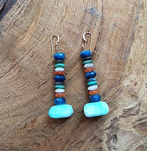 Peruvian Opal | Chrysocolla Earrings| Chrysoprase Earrings | Labradorite Earrings | Moonstone Earrings | Carnelian Earrings | Gemstone Earrings