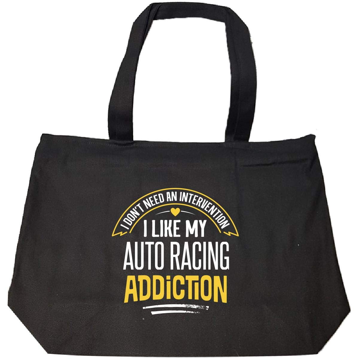 Funny Auto Racing Gift I Like My Addiction Loves Present Tote Bag With Zip