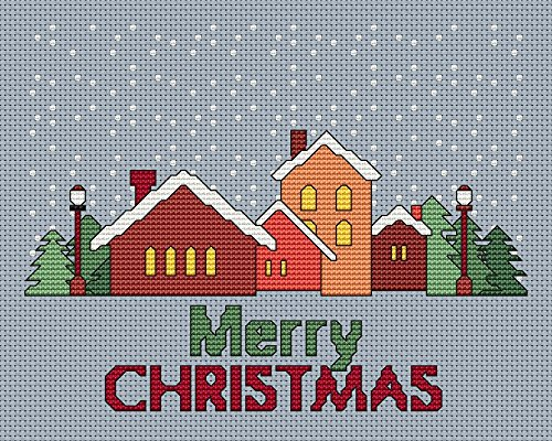 Christmas Village Cross Stitch Pattern  Stitching Tips/Fabri