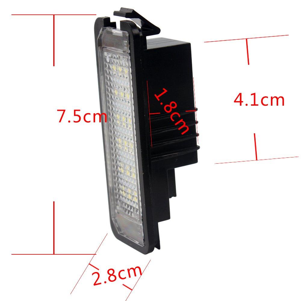 Haichen - Par de luces LED para matrícula (18 ledes, sin errores): Amazon.es: Coche y moto