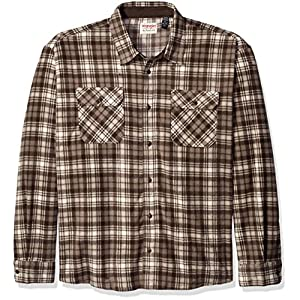 Wrangler Authentics Men's Long Sleeve Plaid Fleece Shirt Jacket