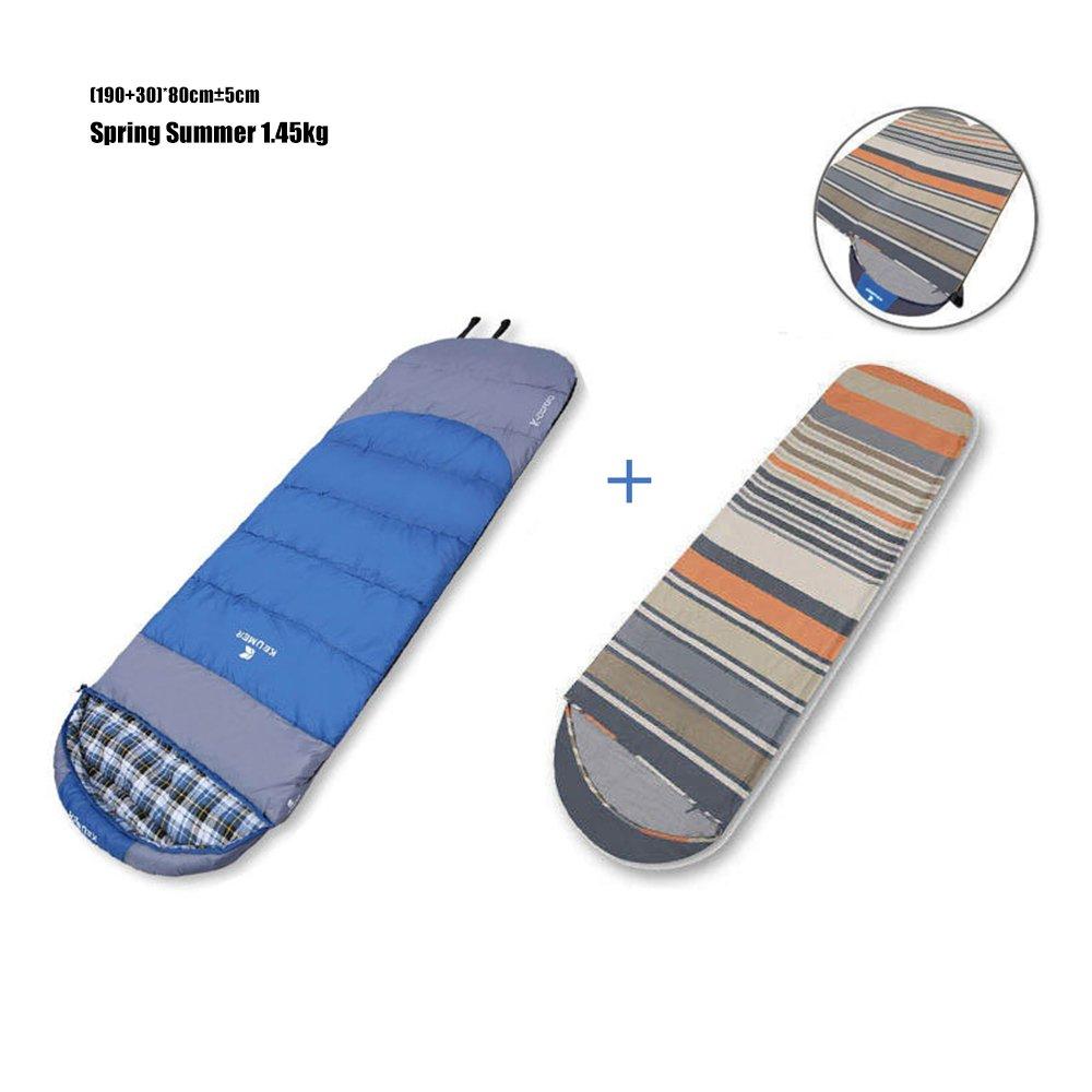 COCO Cotton Sleeping Bag Liner Erwachsene Outdoor Indoor Warm Warm Winter Verdicken Einzelne Portable Kann Doppel Reise Anti Schmutzig Spell ( Farbe   Dunkelblau , größe   Spring Summer )