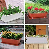 GROWNEER 6 Packs 15 Inches Terracotta Color