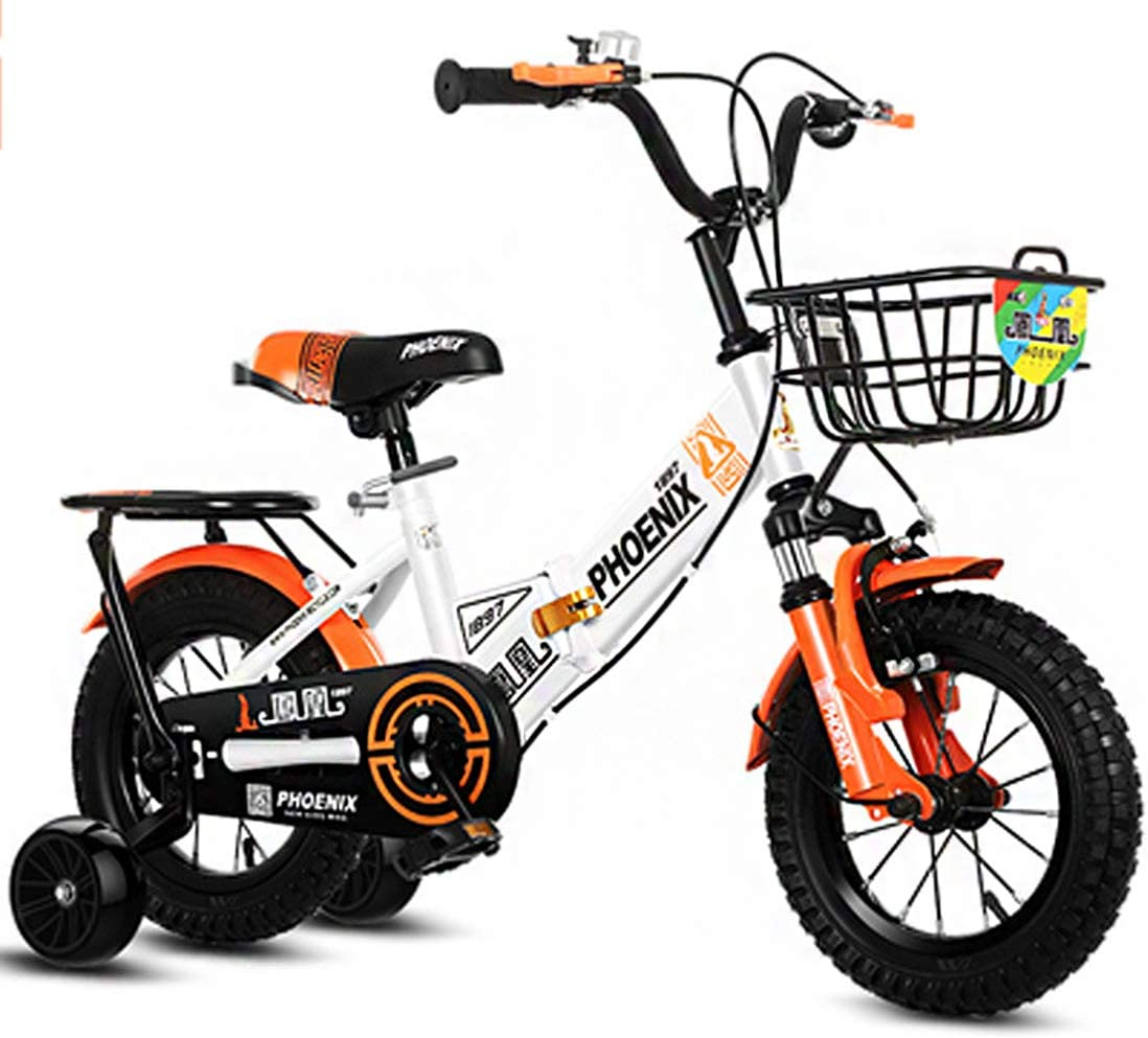 Bicicleta para Niños Plegable 12 14 16 18 Pulgadas Modelo De Freno De Mano Que Es Fácil De Conducir para Niños Pequeños Niños Y Niñas 2 3 4 5 6 7 8 9 Años,16