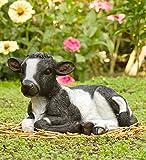Baby Cow Garden Statue