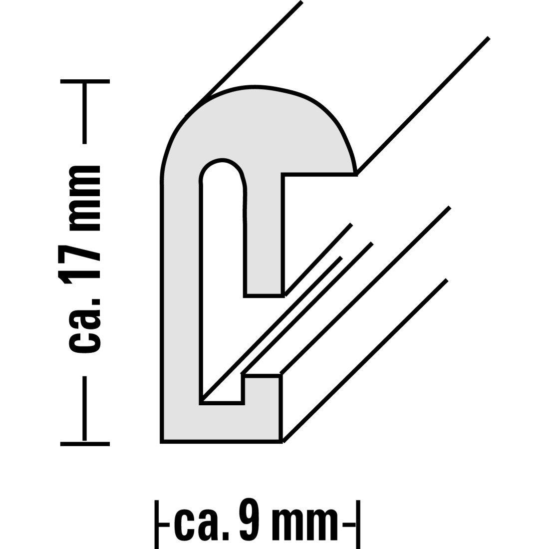 Hama Bilderrahmen Sevilla (DIN A4, 21 x 29, 7 cm, mit Passepartout ...