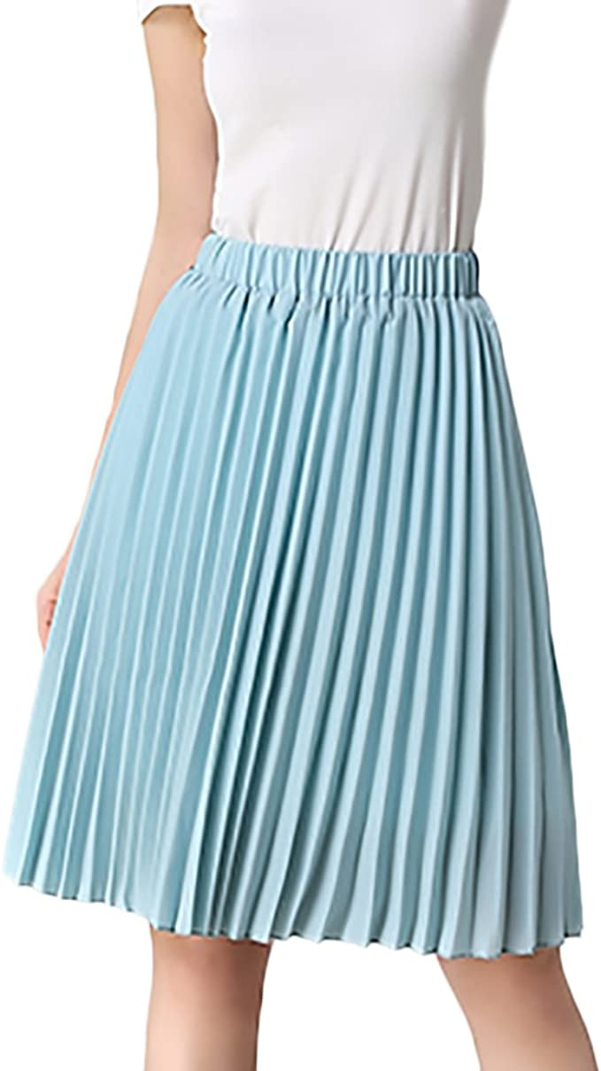 Faldas Mujer Verano Elegantes Cintura Alta Falda Plisada Moda ...