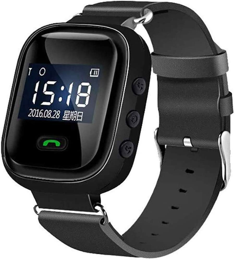 LEDLXK GPS Watch for Seniors Smart Watch Phone GPS Tracker con Anti SOS Buscador De Ubicación De Llamadas Podómetro