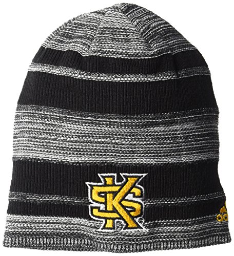 NCAA Kennesaw State Owls Men's Heathered Cuffless Beanie, Black, One Size