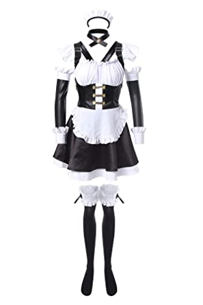 Amazon.com  Nuoqi Japanese Anime Cosplay Costume Womens Upgrade Maid Outfit  Costume  Clothing 284cfbd89
