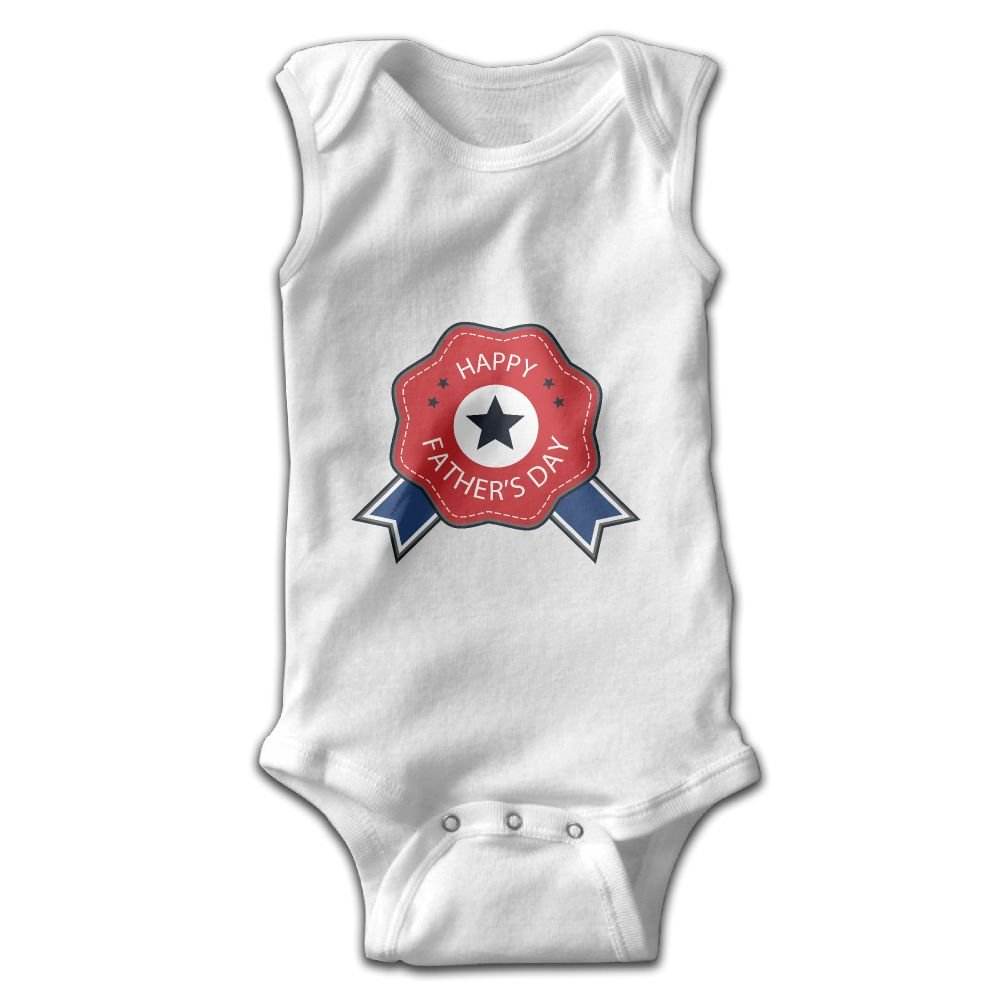 Efbj Toddler Baby Girls Rompers Sleeveless Cotton Onesie Fathers Day Print Outfit Summer Pajamas Bodysuit