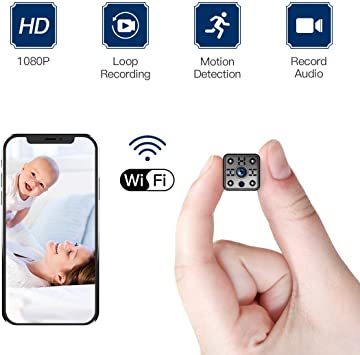 FREDI HD1080P WiFi c/ámara esp/ía videoc/ámara Oculta Microc/ámaras Wireless Mini c/ámara esp/ía microc/ámara WiFi Hidden Spy CAM c/ámara de vigilancia Interior IP c/ámara de vigilancia