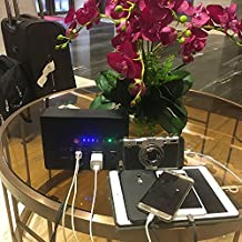 AC Power Bank, 42000mAh 250W(Max) 110V 2 AC Outlets & 4 USB Ports Universal Travel Charger External Battery Pack Portable Mini Home Solar AC Power Bank.