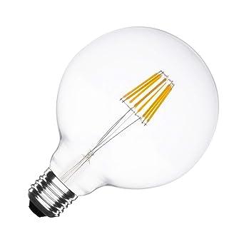 Bombilla LED E27 Regulable Filamento Supreme G125 6W Blanco Neutro 4000K-4500K efectoLED