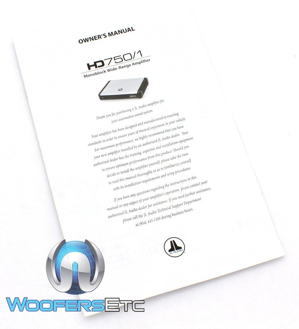 Hd750 1 Jl Audio Monoblock 750 Watt Hd Amplifier Car Kicker Cx1200 Wiring Diagram Electronics